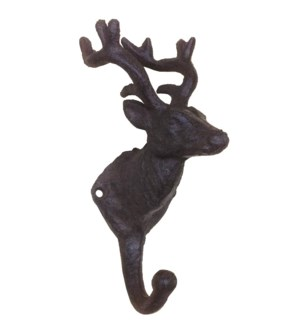 Deer Hook Single Brown 3.2x3.2x7inch.