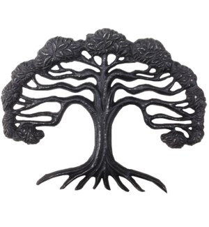 Tree Decor Cast Iron Brown