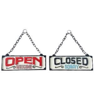 Retro Open/Close Sign, 8.2x3 Inches