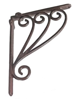 Swirled Bracket, Rustic Finish 1.6x9.3x7.2 inches