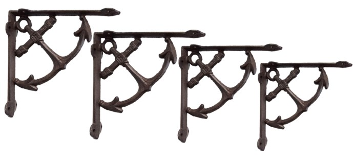 Anchor Bracket, Rustic Finish 1.5x7.7x7.7 inches