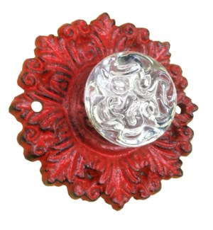 Red Cast Iron Glass Drawer