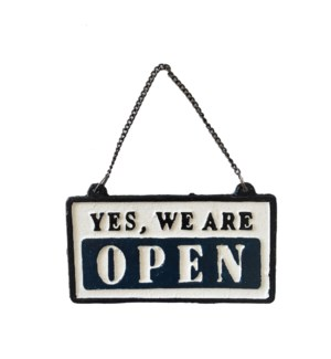 Classic Open/Close Sign, 6.3x3.3 Inches