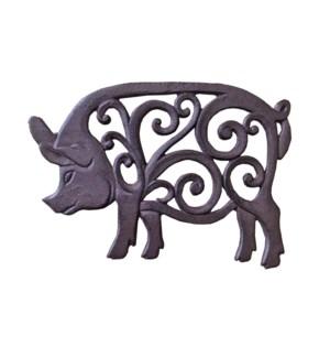 Piggy Trivet Brown OS