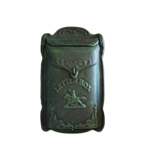 Cara Mailbox Green Cast Iron