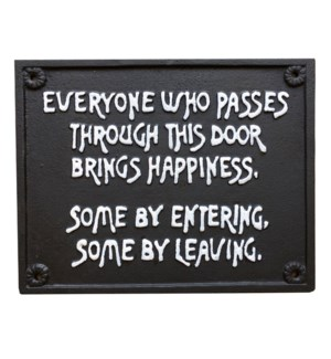 Bring Happiness Sign, Cast Iron.10.08x8.15inch.Last Chance!