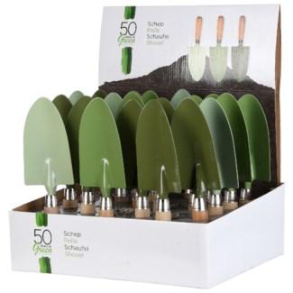 Green hand trowel 3/ass.
