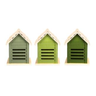 Green ladybird house 3/ass.