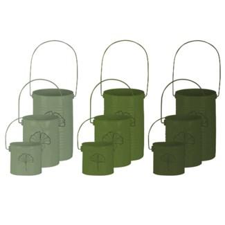 Green windlight set/3 3/ass.