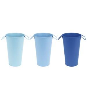 Blue shades vase S ass.