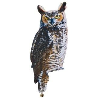 Owl scare crows. Zinc, metal. 18,7x0,2x39,8cm. oq/24,mc/96 Pg.16
