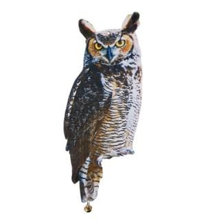 """Owl scare crows. Zinc, metal."""