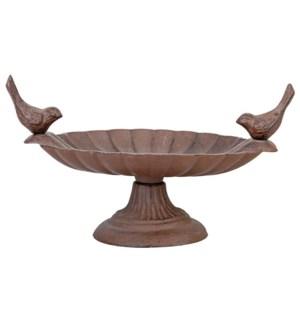 Birdbath on foot cast iron 2 b