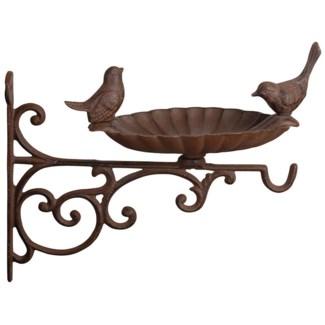 Bird feeder with bracket. Cast iron. 21,5x28,0x26,0cm. oq/8,mc/8 Pg.17