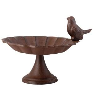 Birdbath on foot cast iron 1 b