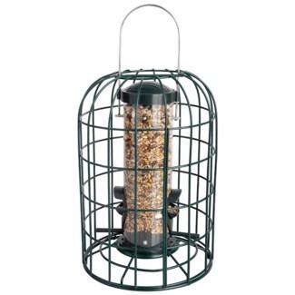 Squirrel proof bird feeder. Metal, plastic. 17,8x17,8x26,5cm. oq/6,mc/6 Pg.11