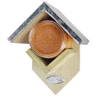 Peanut butter house. Pinewood, zinc. 15,0x13,0x19,5cm. oq/24,mc/24