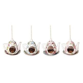 Teapot feeder ass. Porcelain, metal. 15,7x14,2x13,9cm. oq/8,mc/8 Pg.15, 136