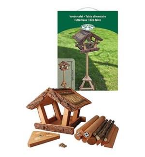Bark bird table in giftbox. Pi