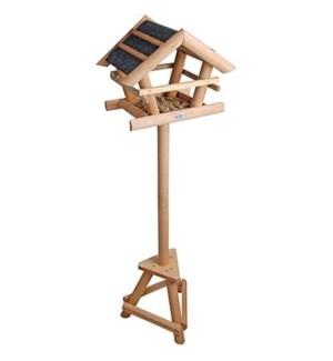 Bitumen bird table on pole. Pi