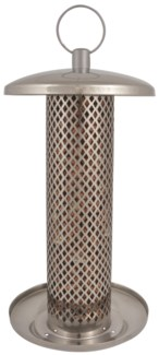 Stainless steel nut feeder - (5.6x5.6x10.7 inches)