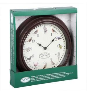 Clock birdsounds - 12x2x12 inches