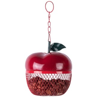 Apple bird feeder  - 5x5x5.7in.