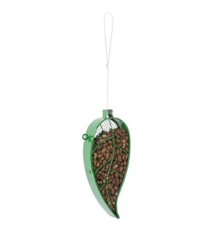 Hanging mesh wire bird feeder