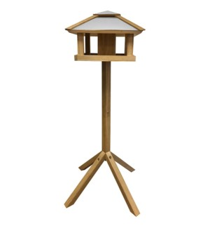 Bird table oak square with sil
