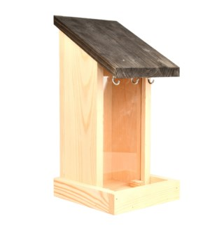 Wall hopper feeder - (5.5x5.8x11.5 inch)