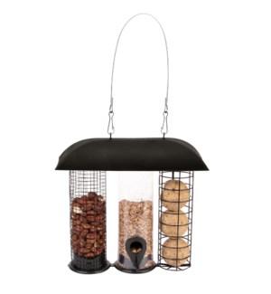 Three in one bird feeder
