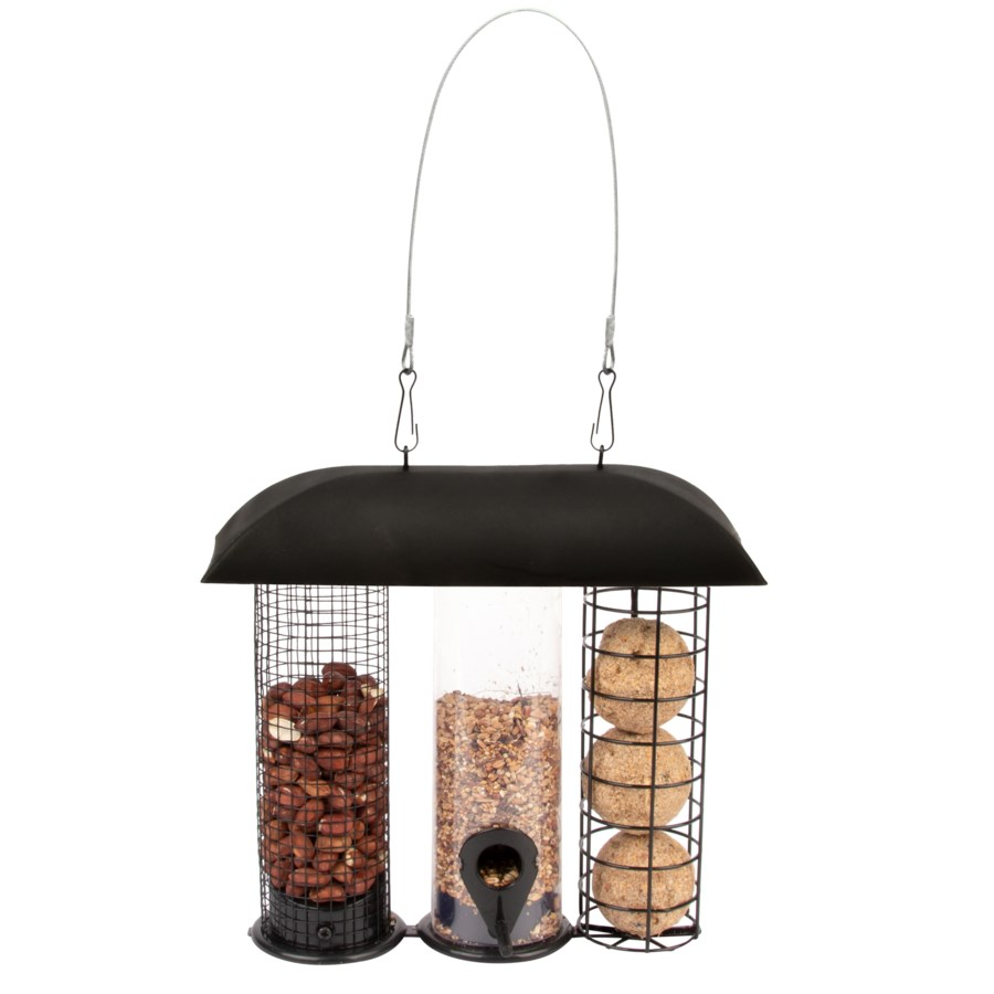 Three in one bird feeder