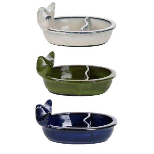 Bird bath/ feeder ceramic ass.