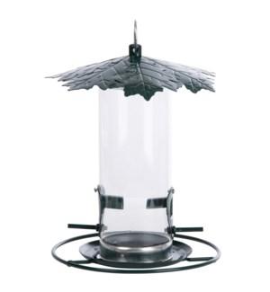 Seed feeder leave roof