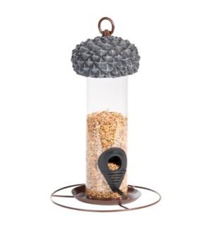 Acorn silo feeder