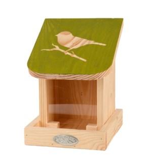 Diapositive bird silo feeder