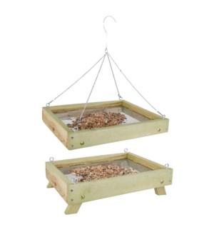 Ground bird table for wild birds
