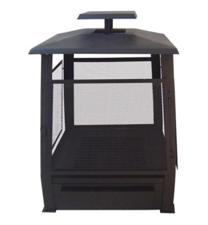 Pagoda terrace heater with wir