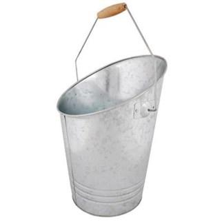 Zinc coal bucket. Zinc, chinese cherry wood. 31,0x26,8x39,5cm. oq/6,mc/6 Pg.32