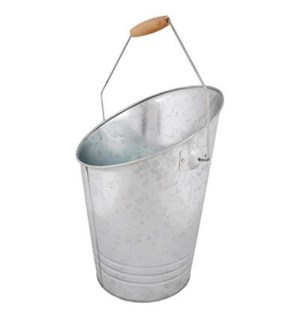 """Zinc coal bucket. Zinc, chine, DISC, OS"""