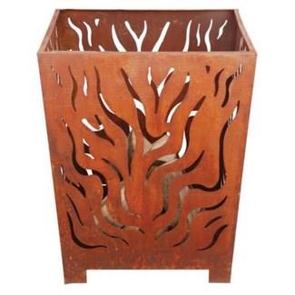 Fire basket square rust L. Metal. 27.6x23.4x23.4inch. Last chance FD 6.20.2016