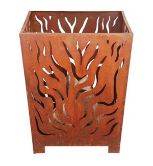 Fire basket square rust L