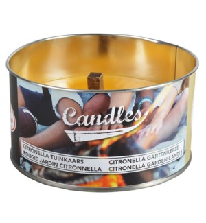 Gardencandle in tin assorted M