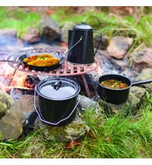 Outdoor cookingset. Metal. 18
