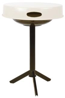 BBQ table white. Carbon steel. 46,5x46,5x63,0cm. oq/4,mc/1 Pg.28    On Sale 25 percent off 51.25
