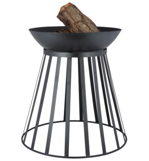 Fire basket/fire bowl turnable