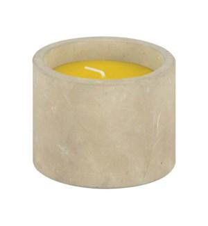 Citronella candle in concrete