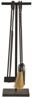 Forged iron fire place tools - (7.9x5.4x26.3 inches)