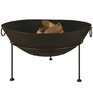 Reclaimed metal fire bowl 120