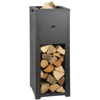 Fire place with wood storage -  15.4x15.4x39.5in.